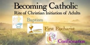 Becoming Catholic sign